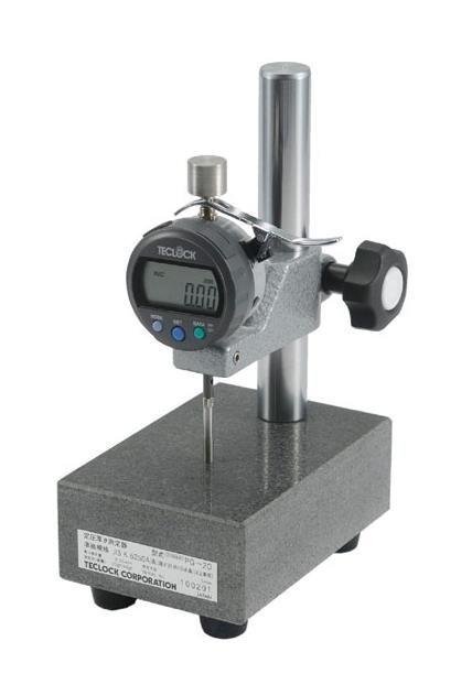 テクロック (TECLOCK) JIS準拠 定圧厚さ測定器(スタンドタイプ) PG-20J