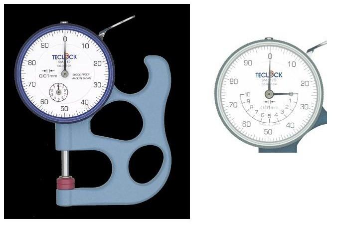 テクロック (TECLOCK) ダイヤルシックネスゲージ SM-112D 【受注生産品】