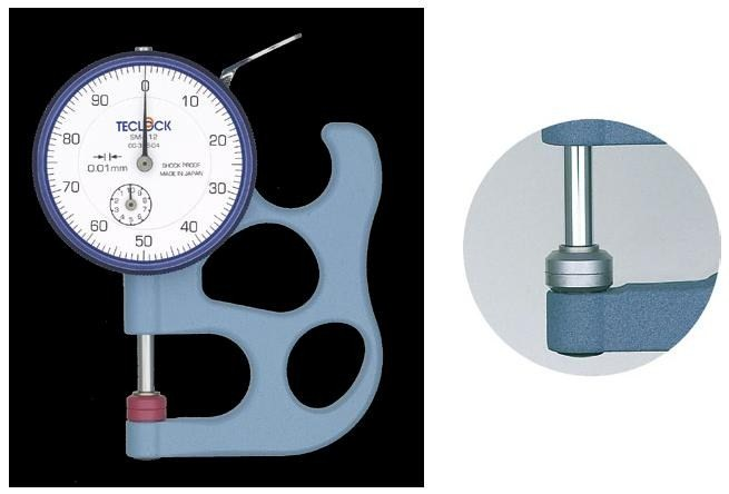 完全送料無料 時計製造の 精密 信憑 安定 頑丈 を継承したラインナップ テクロック SM-112FE TECLOCK ダイヤルシックネスゲージ