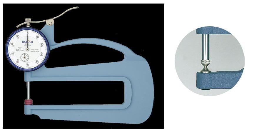テクロック (TECLOCK) ダイヤルシックネスゲージ SM-124LW