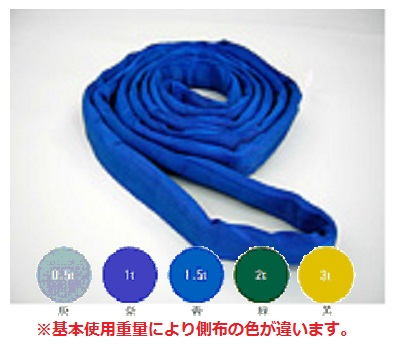 テザック ブルースリングソフト N型(エンドレスタイプ) 1.6t×4.5m (sn-46x4.5) (青色)