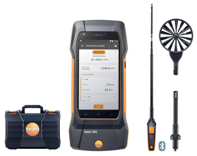 【直送品】 テストー (testo) ユニバーサル環境計測器 testo400 コンボセット1 (0563 0400 71)