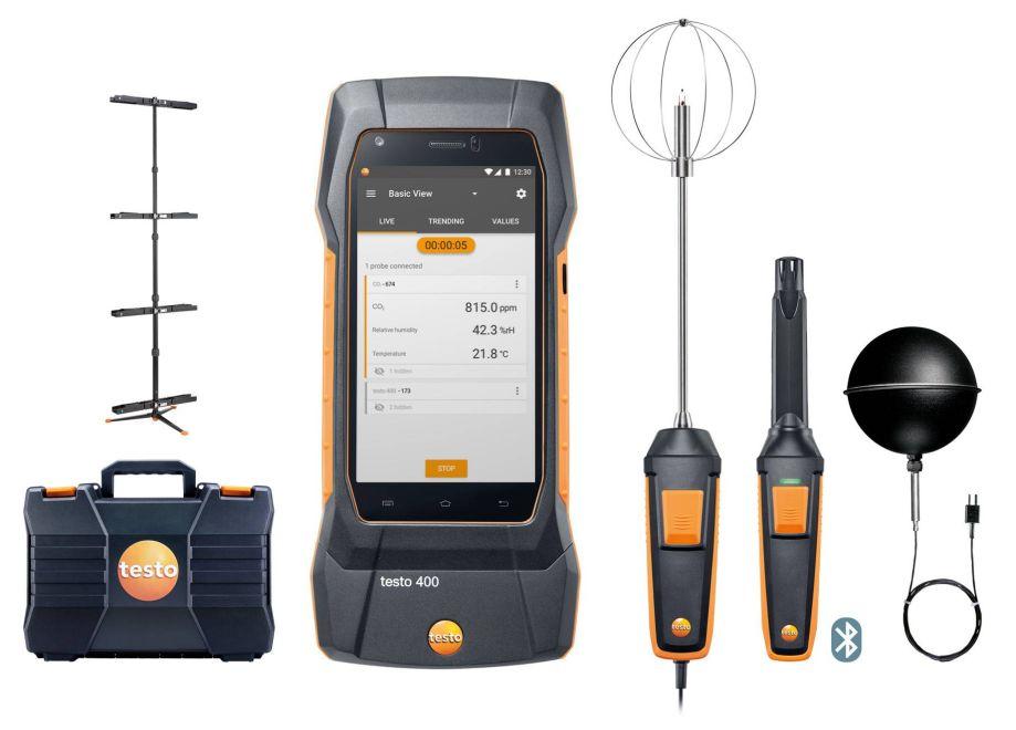 【直送品】 テストー (testo) ユニバーサル環境計測器 testo400 PMVセット (0563 0401)