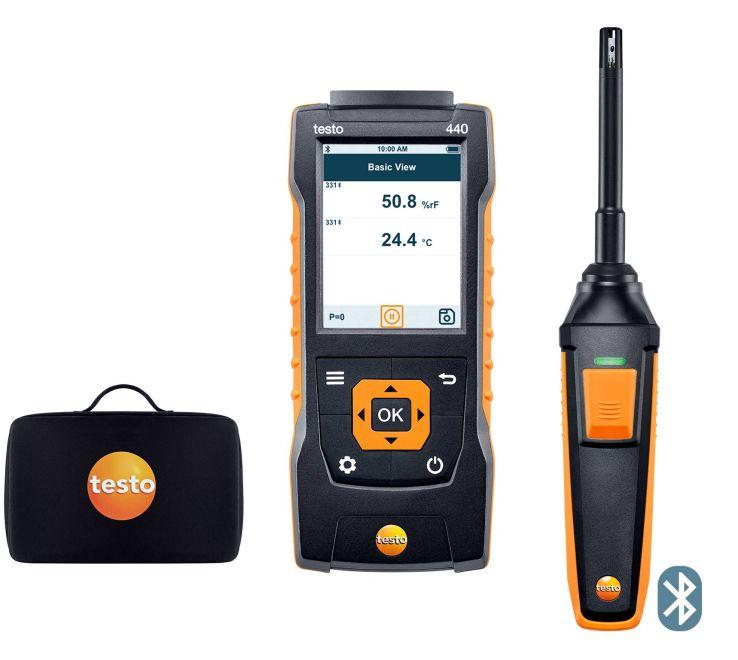 テストー (testo) マルチ環境計測器 testo440 温湿度プローブセット (0563 4404) (Bluetooth対応)
