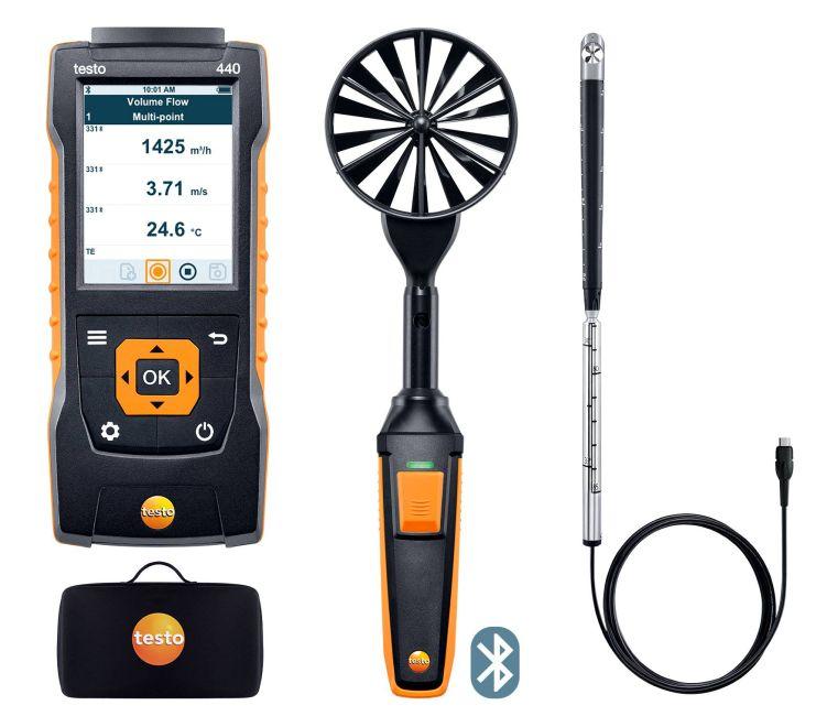 テストー (testo) マルチ環境計測器 testo440 風速プローブセット2 (0563 4407) (Bluetooth対応)