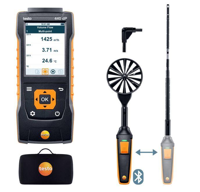 【新作からSALEアイテム等お得な商品満載】 テストー マルチ環境計測器 (testo) (0563 4409) testo440 風速プローブコンボセット1 (Bluetooth対応):道具屋さん店 【ポイント5倍】 dP-DIY・工具