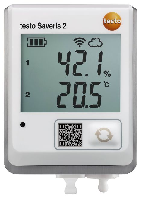 テストー (testo) ディスプレイ付き無線データロガー testoSaveris 2-H2 (0572 2035) (温湿度各1チャネル)