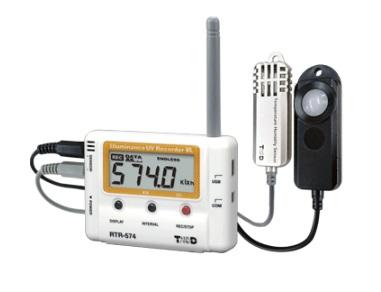 T&D ワイヤレスデータロガー RTR-574-S (照度・紫外線・温度・湿度)