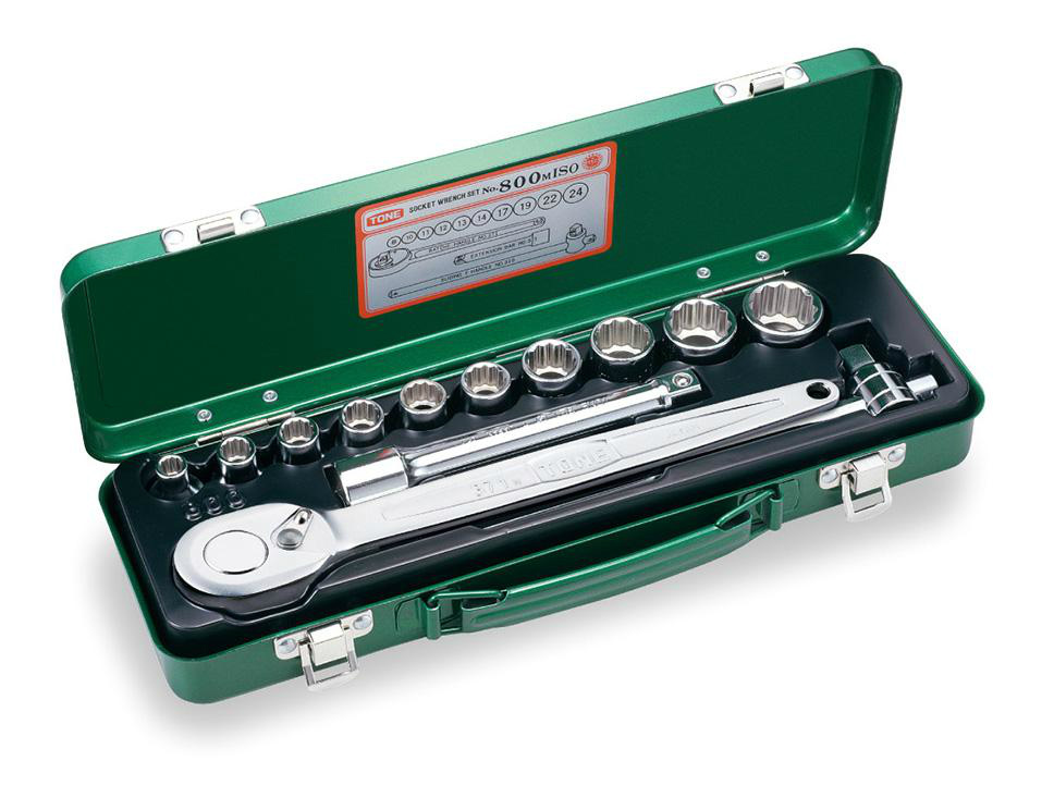 """TONE (トネ) ソケットレンチセット 800MISO 〈差込角 12.7mm(1/2"""")〉"""
