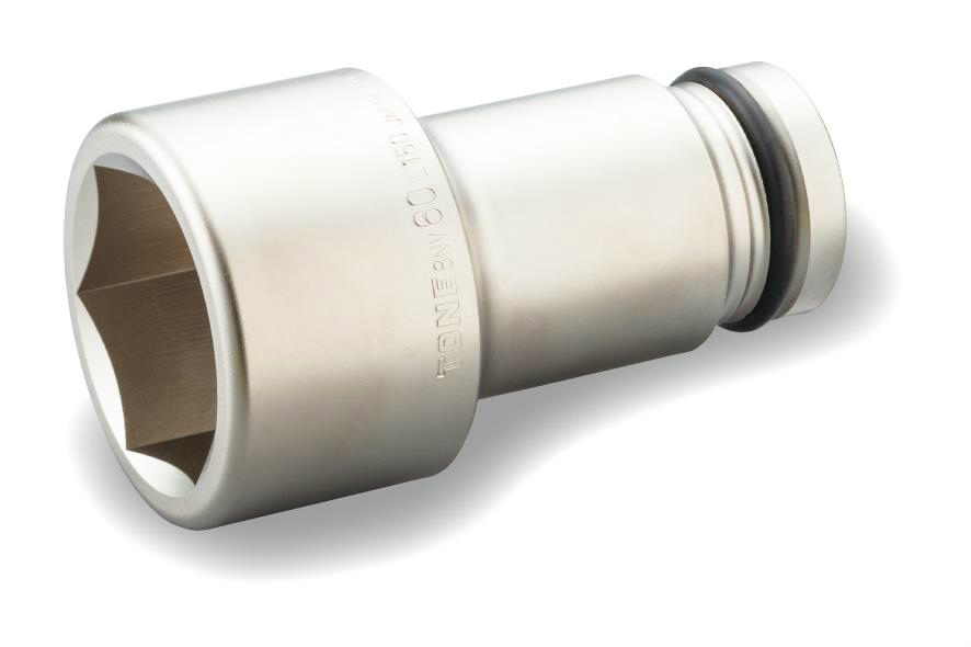 """TONE (トネ) インパクト用超ロングソケット 8NV-75L150 〈差込角 25.4mm(1"""")〉"""