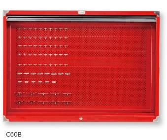 【代引不可】 TONE (トネ) シャッター付サービスボード C60B 【メーカー直送品】