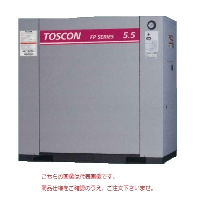 【直送品】 東芝 (TOSHIBA) エアコンプレッサー 給油式 FP146-22T (三相200V 60Hz)〈コンプレッサ単体形〉