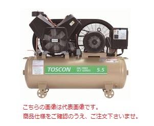 【直送品】 東芝 (TOSHIBA) エアコンプレッサー 無給油式 VLT105-75T (三相200V 50Hz)