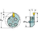 サンドビック コロターンSL T-Max Q-カット用カッティングヘッド 570-25R151.21-20-20 (562-9896) 《ホルダー》