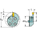 サンドビック コロターンSL T-Max Q-カット用カッティングヘッド 570-32R151.3-10-40 (563-1394) 《ホルダー》