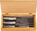 TRUSCO エキストラクターセット ラセン型 9本組 木箱入 EXS-1825 (231-9501) 《タップ除去工具》