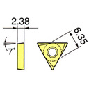 カイザー 超硬 TCGT110202FN-H1 チップ 大昭和精機(株) (138-3701) 10個入 《ツーリング工具》