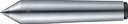TRUSCO レースセンター超硬付 MT3 チップ径24mm TRSP-3-24 (329-0387) 《芯押センター》