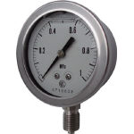 長野 グリセリン入圧力計 GV50-123-25.0MP (434-9695) 《圧力計》