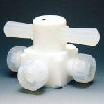 【送料無料】 フロンケミカル 三方バルブ圧入型 6φ NR0004-01 (734-4040) 《チューブ継手》