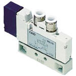 CKD(株) CKD パイロット式5ポート弁 4GA・4GBシリーズ 4GA410-C8-3 (332-5733) 《電磁弁》