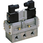 CKD(株) CKD パイロット式5ポート弁セレックスバルブ 4F520-10-B-AC100V (580-6992) 《電磁弁》