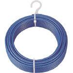 トラスコ中山(株) TRUSCO メッキ付ワイヤロープ PVC被覆タイプ φ4(6)mmX100m CWP-4S100 (489-1236) 《ワイヤロープ》