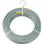 トラスコ中山(株) TRUSCO ステンレスワイヤロープ φ4mmX50m CWS-4S50 (489-1431) 《ワイヤロープ》