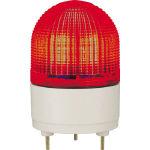 (株)パトライト パトライト KHE型 LED表示灯 φ100 点滅・流動・ストロボ発光 赤 KHE-24-R (459-1089) 《表示灯》