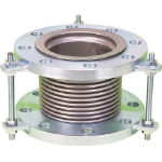 NFK 排気ライン用伸縮管継手 5KフランジSS400 100AX200L NK7300-100-200 (420-4689) 《フレキ管》