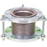 NFK 排気ライン用伸縮管継手 5KフランジSS400 125AX150L NK7300-125-150 (420-4697) 《フレキ管》