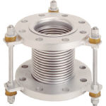 TF フランジ無溶接型防振継手 10K SS400 100AX150L VJ10K-100-150 (439-8581) 《フレキ管》