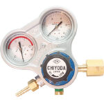千代田 酸素用調整器スタウト(関東式)乾式安全器内蔵型 SRO-A-E (355-2641) 《ガス調整器》