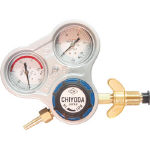 千代田 酸素用調整器スタウト(関西式)乾式安全器内蔵型 SRO-A-W (355-2659) 《ガス調整器》
