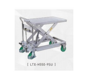 【代引不可】 をくだ屋技研 (OPK) 手動式リフトテーブルキャデ (ステンレスタイプ) LT-H550-9SU 【メーカー直送品】