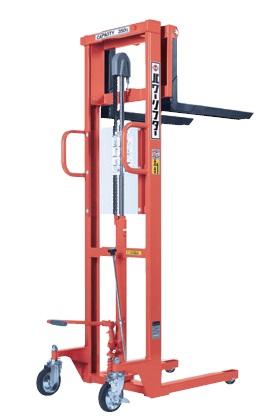 オレンジ色 をくだ屋技研 【直送品】 手動式パワーリフター (エコノミータイプ) (OPK) PL-H350-15S