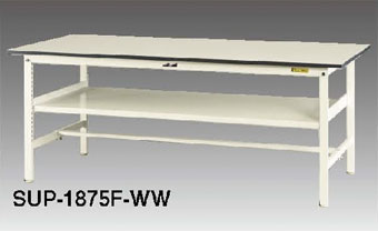 【直送品】 山金工業 ワークテーブル SUP-1560F-WW 【法人向け、個人宅配送不可】 【大型】