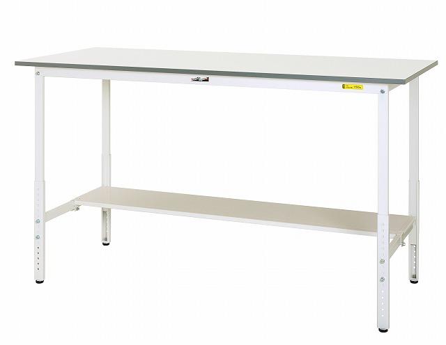 【直送品】 山金工業 ワークテーブル SUPAH-1245T-WW 【法人向け、個人宅配送不可】 【大型】