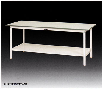 【直送品】 山金工業 ワークテーブル SUPH-1860TT-WW 【法人向け、個人宅配送不可】 【大型】
