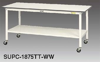【代引不可】 山金工業 ヤマテック ワークテーブル SUPHC-1275TT-WW 【メーカー直送品】