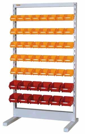 【直送品】 山金工業 パーツハンガー 間口900サイズ 移動式 両面用 HPR-0918C-Y 【法人向け、個人宅配送不可】 【大型】