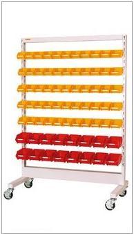 【代引不可】 山金工業 ヤマテック パーツハンガー 間口1200サイズ 移動式 両面用 HPR-1218C-Y 【法人向け、個人宅配送不可】 【メーカー直送品】