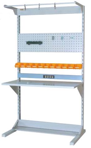 【直送品】 山金工業 ヤマテック ラインテーブル 間口1200サイズ 片面・連結用 HRK-1221R-FPYC 【法人向け、個人宅配送不可】