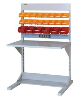 【直送品】 山金工業 ラインテーブル 間口900サイズ 基本タイプ 両面用 HRR-0913-YC 【法人向け、個人宅配送不可】 【大型】