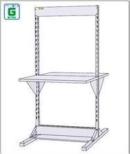 【直送品】 山金工業 ヤマテック ラインテーブル 基本形 W900×H1885サイズ 両面 単体 HRR-0918 【法人向け、個人宅配送不可】