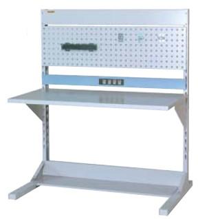 【直送品】 山金工業 ラインテーブル 間口1200サイズ 基本タイプ 両面用 HRR-1213-PC 【法人向け、個人宅配送不可】 【大型】