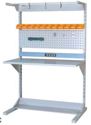 【直送品】 山金工業 ラインテーブル 間口1200サイズ 両面・連結用 HRR-1218R-FPYC 【法人向け、個人宅配送不可】 【大型】