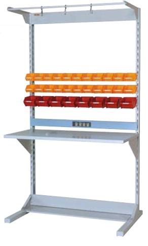 【直送品】 山金工業 ラインテーブル 間口1200サイズ 基本タイプ 両面用 HRR-1221-FYC 【法人向け、個人宅配送不可】 【大型】