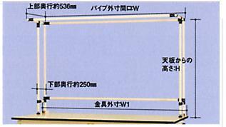 【直送品】 山金工業 ワークテーブルスタンド SWK-1500K 【法人向け、個人宅配送不可】 【大型】