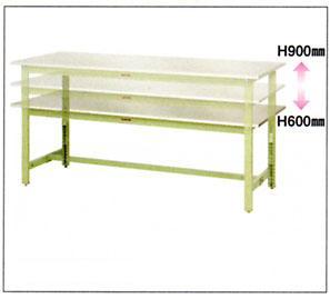 【直送品】 山金工業 ワークテーブル SWS3A-1275-SG 【法人向け、個人宅配送不可】 【大型】